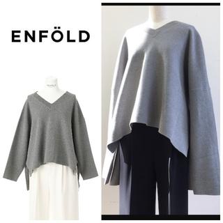 ENFOLD - エンフォルド ミラノリブ ボックスプルオーバー