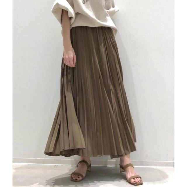 L'Appartement DEUXIEME CLASSE(アパルトモンドゥーズィエムクラス)のL'Appartement Pleats Skirt   レディースのスカート(ロングスカート)の商品写真
