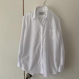 DEUXIEME CLASSE - ドゥーズィエムクラス ホワイトビックシャツ