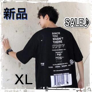【SALE♪】夏服 韓国 XL オーバーサイズ Tシャツ 黒 ユニセックス