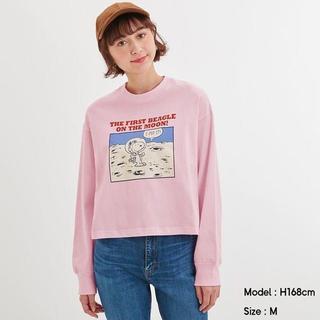 ジーユー(GU)のGU スヌーピー ロングスリーブT(長袖)Peanuts(Tシャツ(長袖/七分))