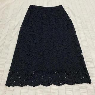 バビロン(BABYLONE)の  saloon  ブラック レーススカート size36(ひざ丈スカート)