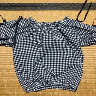 ウィゴー(WEGO)のギンガム オフショル(シャツ/ブラウス(半袖/袖なし))