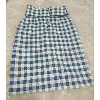スナイデル(snidel)のsnidel チェックタイトスカート♥(ひざ丈スカート)