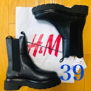 エイチアンドエム(H&M)のH&M  ハイプロファイルチェルシーブーツ 39(ブーツ)