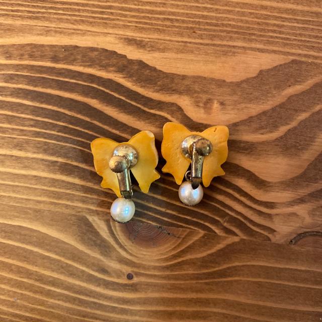 Q-pot.(キューポット)のリボンクッキー イヤリング ハンドメイドのアクセサリー(イヤリング)の商品写真