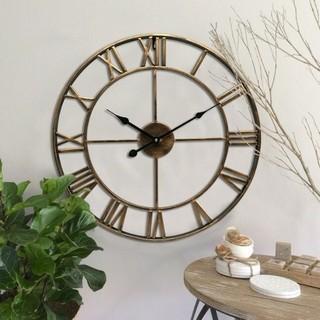 アイアンフレーム 壁掛け時計 (掛時計/柱時計)