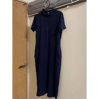 ムジルシリョウヒン(MUJI (無印良品))の無印良品 ポロシャツワンピース Mサイズ(ロングワンピース/マキシワンピース)