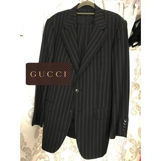 グッチ(Gucci)のGUCCI  黒 ストライプ テーラードジャケット (テーラードジャケット)