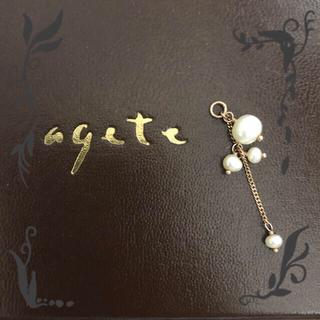 agete - agete 淡水パール ピアス チャーム(片方のみ)