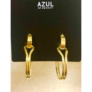 アズールバイマウジー(AZUL by moussy)のフープピアス❁ ASUL by moussy ゴールド リング(ピアス)