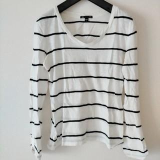 ギャップ(GAP)のGAP ボーダー カットソー Tシャツ  Vネック(Tシャツ(長袖/七分))