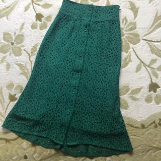 レディアゼル(REDYAZEL)のレディアゼル 緑 レースタイトスカート(ロングスカート)