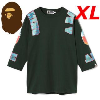 アベイシングエイプ(A BATHING APE)のBAPE アベイシングエイプ 7分袖 七分袖 長袖 Tシャツ カットソー新品XL(Tシャツ/カットソー(七分/長袖))
