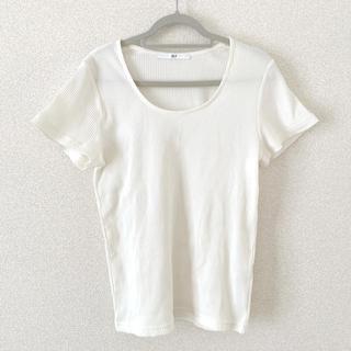 スライ(SLY)のSLY 白リブトップス(カットソー(半袖/袖なし))