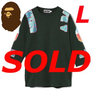 アベイシングエイプ(A BATHING APE)のBAPE アベイシングエイプ 7分袖 七分袖 長袖 Tシャツ カットソー 新品L(Tシャツ/カットソー(七分/長袖))