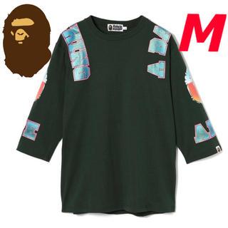 アベイシングエイプ(A BATHING APE)のBAPE アベイシングエイプ 7分袖 七分袖 長袖 Tシャツ カットソー 新品M(Tシャツ/カットソー(七分/長袖))