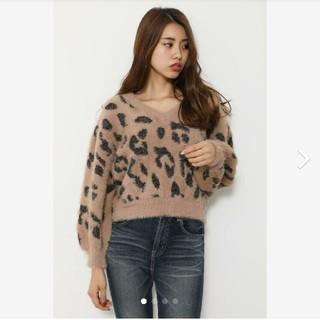 リエンダ(rienda)のrienda リエンダ Leopard Shaggy TOP(ニット/セーター)