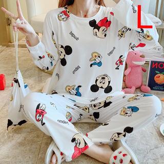 【在庫処分】パジャマ ルームウェア 上下セット セットアップ 韓国風 ミッキー