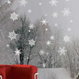 ウォールステッカー 雪華 ホワイト 58038 クリスマス 冬 雪(その他)
