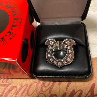 テンダーロイン(TENDERLOIN)の希少品! TENDERLOIN ホースシューリング ダイヤ シルバー 925 銀(リング(指輪))