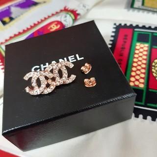 CHANEL - ピンクゴールド ピアス CHANEL ノベルティ シャネル