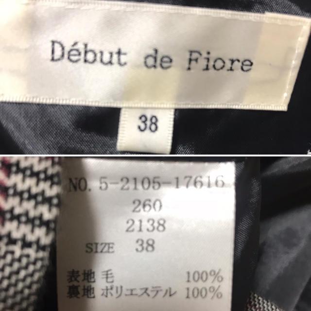 Debut de Fiore(デビュードフィオレ)のデビュードフィオレ リボンディテールチェックワンピ Mサイズ レディースのワンピース(ひざ丈ワンピース)の商品写真