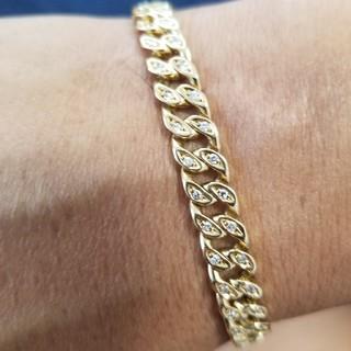 Tiffany & Co. - 値下げ価格 喜平 ブレスレット ダイヤモンド K18YG ギラギラ