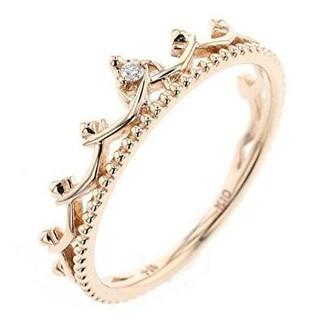 ノジェス(NOJESS)のノジェス K10 リング 7号 フェアリー クラウン ダイヤモンド 伝説 美品(リング(指輪))