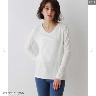 OZOC - OZOC 【アルガンオイル配合】USコットン Vネック 長袖Tシャツ