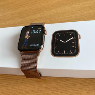 アップル(Apple)のApple Watch Series5 44mm ゴールドステンレスケース(腕時計(デジタル))
