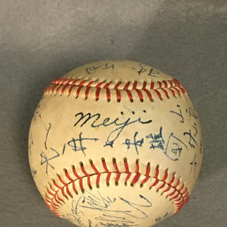 明治大学野球部の黄金期のサインボール