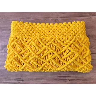 マクラメポーチ Yellow(ポーチ)