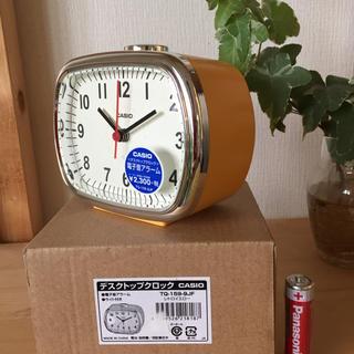 カシオ(CASIO)のCASIO カシオ 置き時計 目覚まし レトロ イエロー TQ-159-9JF(置時計)