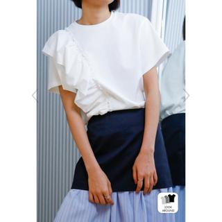 ルシェルブルー(LE CIEL BLEU)のルシェルブルー  タフタラッフルTシャツ(Tシャツ(半袖/袖なし))
