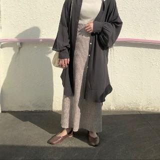 ローリーズファーム(LOWRYS FARM)のメランジニットスカート(ロングスカート)