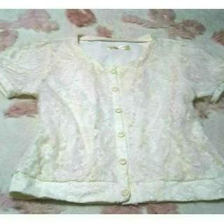 リズリサ(LIZ LISA)のリズリサ♥ リズメロ♥ 白 ♥花柄&レース ♥柔らか素材 ♥激カワ ♥お洋服(カットソー(半袖/袖なし))