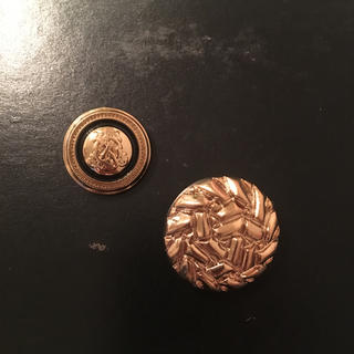 ゴールド ボタン 2つセット(各種パーツ)