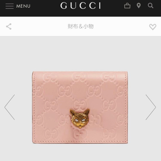 Gucci - 9月22日限定値下げ!最終値下げ 新品未使用 正規品 GUCCI 財布 キャット
