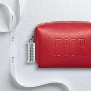 ディオール(Dior)のdior  赤 スクエアポーチ 新品(ポーチ)