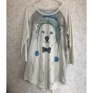 イーハイフンワールドギャラリー(E hyphen world gallery)のしろくまロングTシャツ(Tシャツ(長袖/七分))