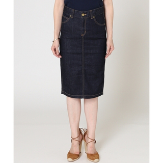 ドゥーズィエムクラス(DEUXIEME CLASSE)の美品 DEUXIEME CLASSE デニム タイトスカート 34(ひざ丈スカート)