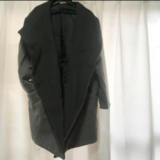 ジーナシス(JEANASIS)の美品 JEANASIS  ジーナシス コート  グレー 毛 美品(ロングコート)