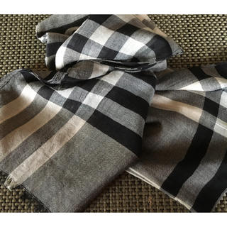 BURBERRY - バーバリー ロング スカーフ  シルク羊毛