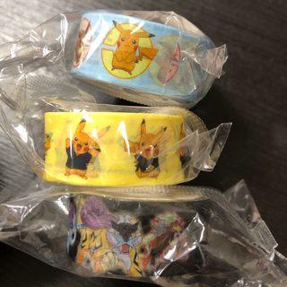 ポケモン(ポケモン)のポケモン マスキングテープ くら寿司 ピカチュウ 3点セット(テープ/マスキングテープ)