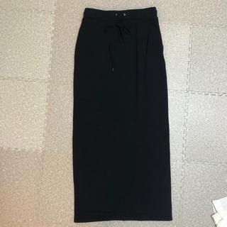 マウジー(moussy)の★美品★moussy ロングスカート 黒 ブラック(ロングスカート)