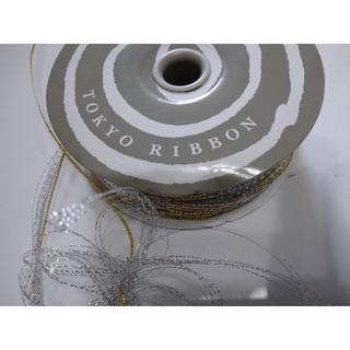東京リボン ワンタッチライン シルバー5m(カード/レター/ラッピング)