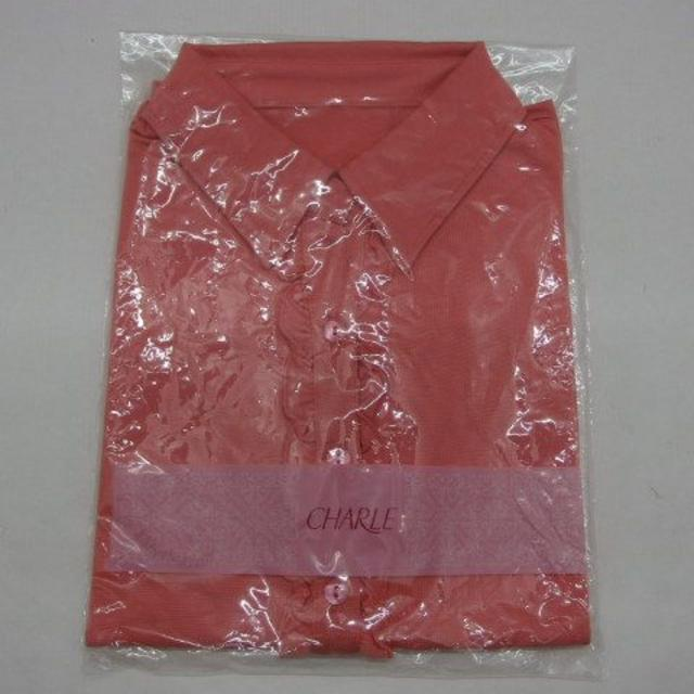 シャルレ(シャルレ)の*1275・シャルレ 襟付きカットソー コーラルオレンジ Lサイズ 未使用品 レディースのトップス(カットソー(半袖/袖なし))の商品写真