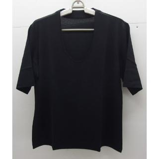 シャルレ(シャルレ)の*1278・シャルレ 半袖カットソー ブラック LLサイズ 未使用品 日本製(カットソー(半袖/袖なし))