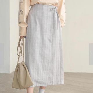 イーハイフンワールドギャラリー(E hyphen world gallery)のチェック巻きスカート(ロングスカート)